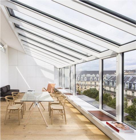 Полностью остеклённая панорамная крыша